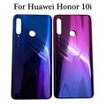 Черный  синий  красный  6 2 дюйма  для huawei Honor 10i HRY-LX1T  задняя крышка  крышка для батареи  корпус  чехол  запасные части для задней части стекла
