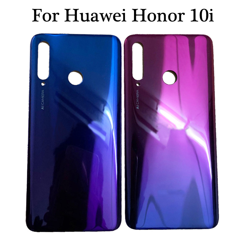 Black Blue Red 6.2 Inch For Huawei Honor 10i HRY-LX1T Back Battery Cover Door Housing Case Rear Glass Parts Replacement