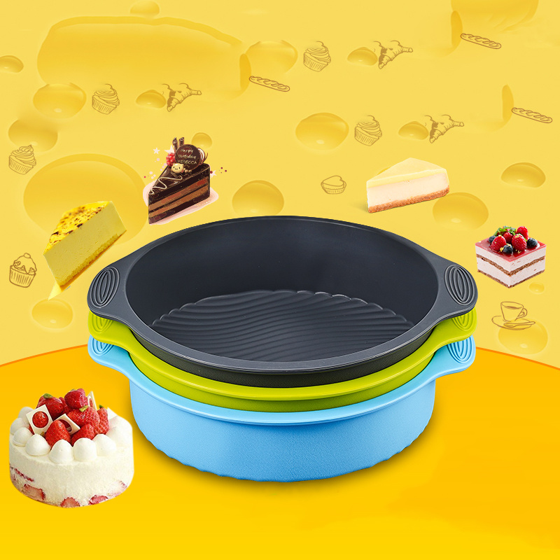 Round Silicone Birthday Cake Mold Pan High Temperature Resistant Queen Moon Cake Molds Microwave Oven Baking Tools Home in Cake Molds from Home Garden