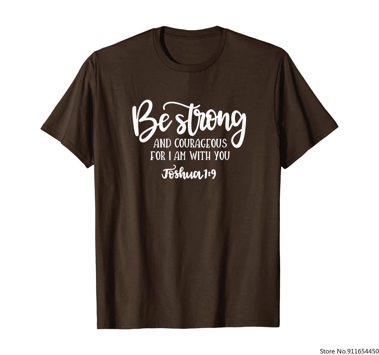 Футболка с библейскими стихами-будьте сильными и смелыми-Джошуа 1:9