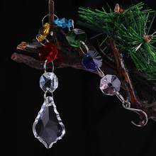Crystal Ball Chandelier Prisms Pendants Parts Home Ornament Hang Light String Suncatcher Maple Leaf Pendant Hanging Drop(China)