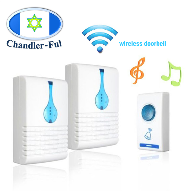 Wireless <font><b>DoorBell</b></font> Call AC Powered loud chime kit 36 Song 100m Rang <font><b>Remote</b></font> Control Home Hotel Security Smart musical <font><b>Doorbells</b></font> image