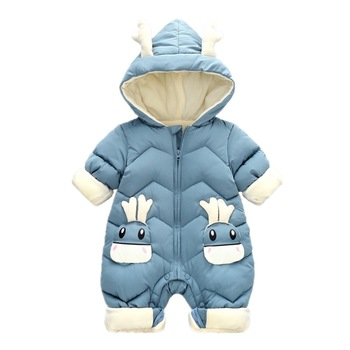 Winter Baby Romper Girls Cotton Hooded Overalls For Boys Infant Jumpsuit Kids Clothes For Newborn Baby Clothes Christmas Gift winter newborn rompers baby girls boys cotton infant hooded warm overalls clothes kids high quality cartoon jumpsuit outerwear