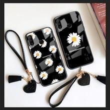 Strap & Case For Xiaomi Mi 9t 9 10 Pro 8 se cc9 cc9e Peaceminusone Daisy Fashion Hard Glass phone Cover For Xiaomi Mi 10 8 Lite premium plastic hard case for xiaomi mi 9t pro a2 8 lite 9 se case ultra thin matte full cover xiaomi mi 9t pro shockproof cover