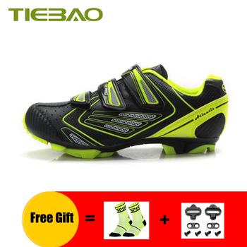 TIEBAO Men mtb shoes mountain bike sneakers self-locking breathable superstar women racing outdoor bicycling riding bike shoes