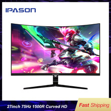 IPASON Gaming Monitor HR272 1500R Curved 27-inch 1920*1080 75Hz High Refresh Rate  Desktop 99% sRGB For Designers A-Sync 4000:1