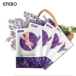 EFERO Exfoliating Foot Mask Lavender Foot Peel Socks for Remove Dead Skin Legs Heels Crack Whitening Skin Pedicure Masks 1Pair