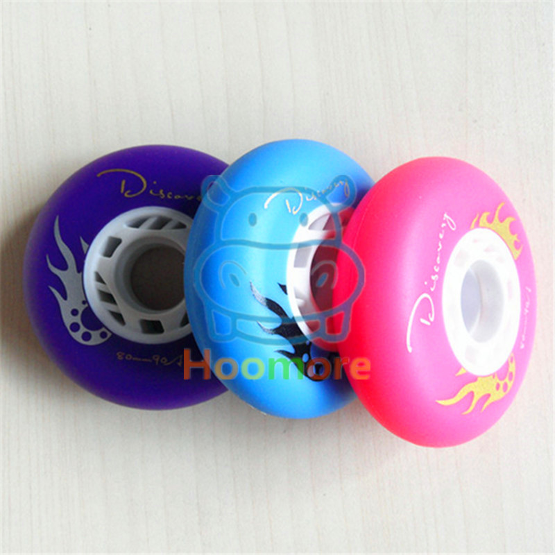 [72mm 76mm 80mm] Slide Skating Wheel With 90A Hardness, Blue Purple Pink Durable PU Small Frosted Surface