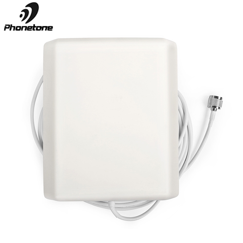 800-2500MHz 9dBi 2G 3G 4G Lte Antenna Indoor Directional Panel Antenna N Male Connector And 5m Cable For Repeater Signal Booster
