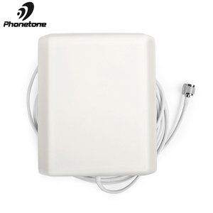 Image 1 - 800 2500MHz 9dBi 2G 3G 4G Lte Antenna Indoor Directional Panel Antenna N Male Connector and 5m cable for Repeater Signal Booster