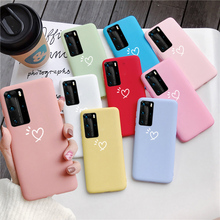Matte Candy Phone Case For Huawei P8 P9 P10 P20 P30 P40 Lite Pro Plus Luxury Soft TPU Back Cover Case For Huawei Honor 8X 9X king queen soft silicone phone back case for huawei p20 p30 p8 p9 p10 lite pro plus p smart tpu cover