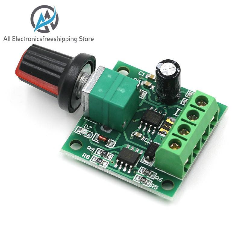 Nuevo DC 1,8 V 3V 5V 6V 12V 12V 2A PWM controlador de velocidad del Motor de bajo voltaje controlador de velocidad del Motor PWM 0 ~ 100% ajustable Módulo regulador