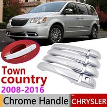 Для Chrysler Town& кантри Voyager Dodge Caravan VW Routan Ram C/V 2008~ хромированная крышка ручки двери аксессуары для автомобиля Комплект отделки