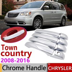 for Chrysler Town & country Voyager Dodge Caravan VW Routan Ram C/V 2008~2016 Chrome Door Handle Cover Car Accessories Trim Set(China)