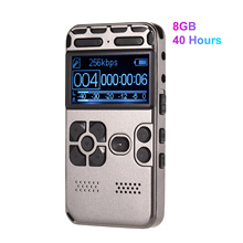 8G Capacity Professional HD Digital Sound Voice Recorder MP3 Player Voice-Activated Recording