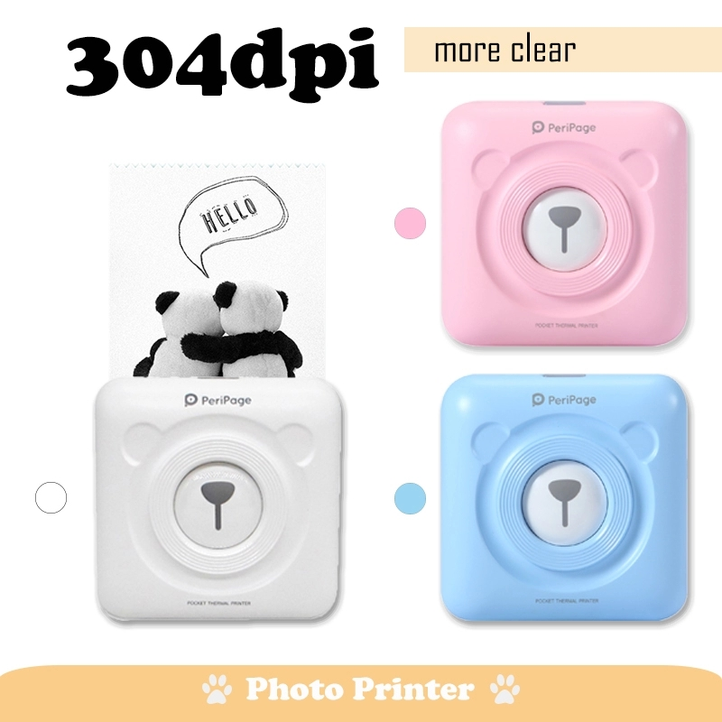 High Resolution 304 DPI  Pocket Photo Printer Mini Photo Bluetooth Printer For Mobile Phone Android And IOS Gifts