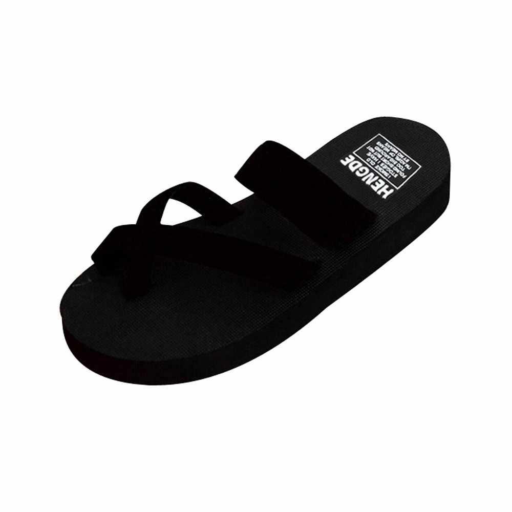 Schuhe frau Strand Sommer Flip-Flops Frauen Schuhe Hausschuhe sapato feminino Keil Weibliche Hausschuhe Schuhe Slip Auf Kreuz Gebunden