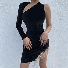 Сексуальное платье на одно плечо с открытой спиной Асимметричное