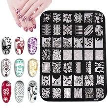 Biutee Nail Stempelen Plate Nagels Art Stempel Rvs Sjablonen Voor Nail Gel Polish Nail Art Gereedschap Manicure