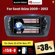 (Código Black Friday: BF2020ES10 100 €  10 €) Junsun Radio con GPS para coche, reproductor de DVD con Android 9.0, navegación, 2GB + 32GB opcional, 2 Din, para Seat Ibiza 2009, 2010, 2011, 2012, 2013