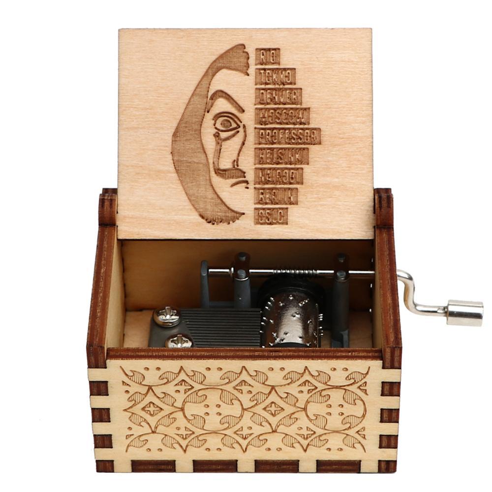 Прямая поставка, черная деревянная музыкальная шкатулка, игра в трон, Caja, музыкальная Zelda, ручная работа, Деревянная Музыкальная Коробка, рождественский подарок - Цвет: Bella 04