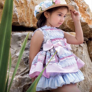 Лето 2020, испанское платье для девочек, платье принцессы, хлопковое милое платье лолиты для маленьких девочек, детские платья для девочек, пр...