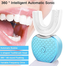 Toothbrush Teeth-Cleaner Sonic Electric Automatic Rechargeable USB Light Blue 360-Degree