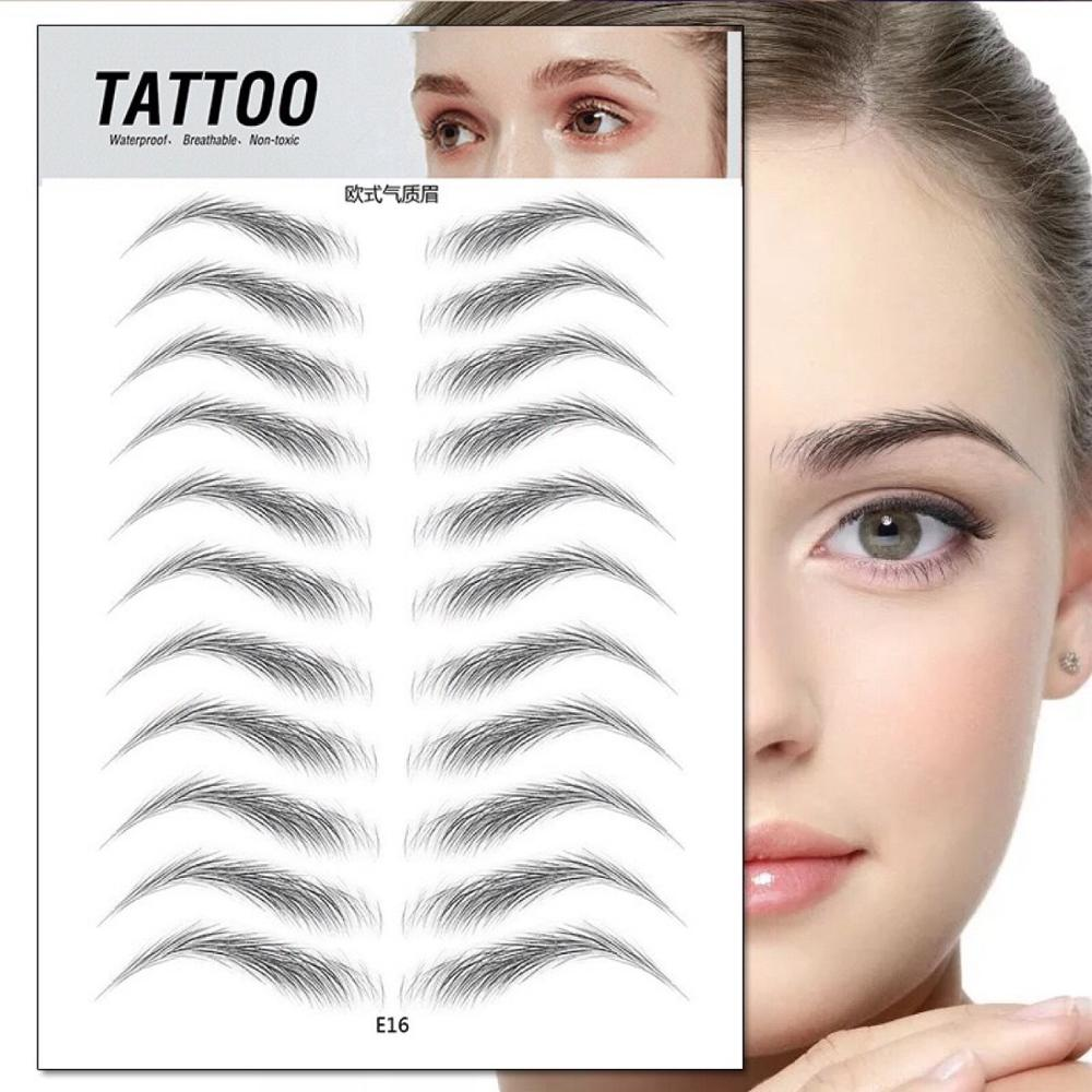 O.TWO.O 4D Hair Like Eyebrows Makeup Waterproof Eyebrow Tattoo Sticker Long Lasting Natural Fake Eyebrow Lamination Cosmetics 3