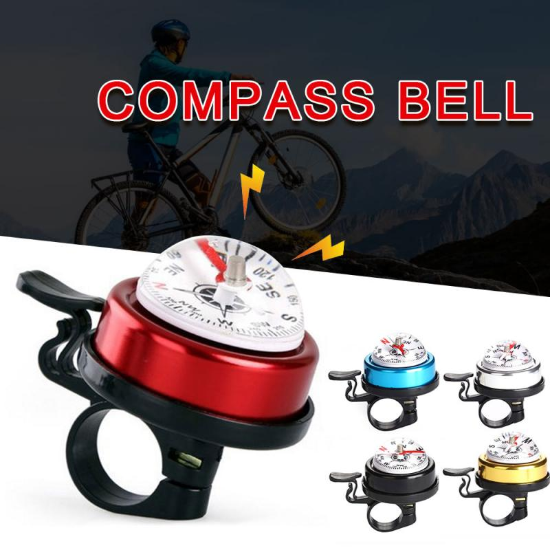 Bicycle Compass Bell Mountain Road Bike Folding Bicycle Alloy Horn Safety Warning Bell Riding Cycling Equipment Accessories