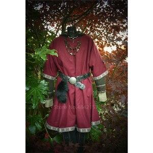 Женский карнавальный костюм средневекового Ренессанса пирата размера плюс на шнуровке воина викинга рубашка с v-образным вырезом Ретро Пов...