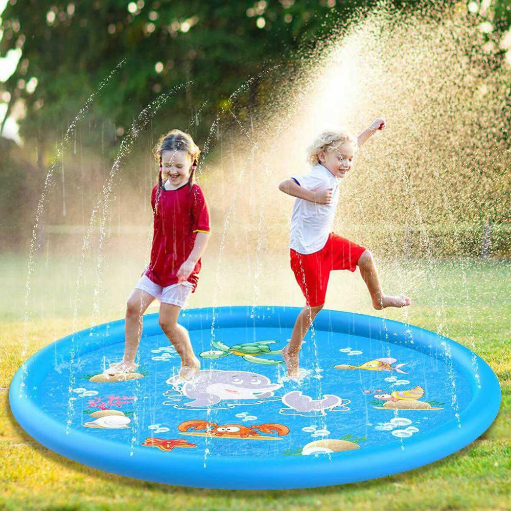 Swimming Pool For Baby Water Spray Mat Inflatable Fun Water Playing Swim Pool Outdoor Toy Outdoor Water Play Mat Beach Pools 107