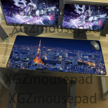 XGZ Exquisite large size landscape mouse pad city series pattern keyboard home office durable waterproof non-slip table mat