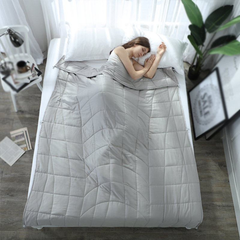 Gray weighted blanket bedding Quilt Sleep Helper for Anxiety Insomnia Stress Bedspread Plush Cover for Bed Sofa ccalming blanket(China)