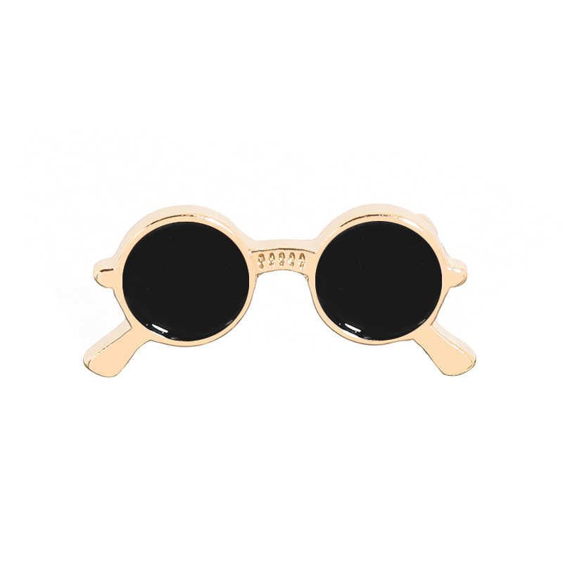 Vintage الرجال الأسود النظارات بروش النظارات الشمسية بروش الجدة corsage دبابيس دعوى وشاح الاكسسوارات التلبيب دبوس عيد الميلاد مجوهرات