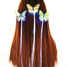 Пригласительные заколки светящиеся мигающие заколки волоконно-оптические волосы Ассорти светодиодный головной убор для вечеринки платье для девочки
