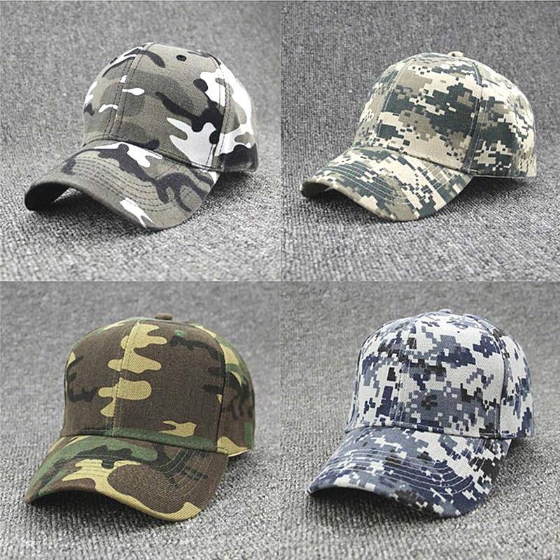 1PC Fashion Cap Adjustable Unisex Army Camouflage Camo Cap Casquette Hat Baseball Cap Unisex Casual Desert Hat Jungle Hat