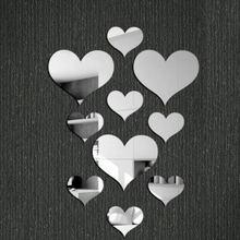 10 шт Сделай Сам надпись Любовь Сердце Наклейка на стену акриловая