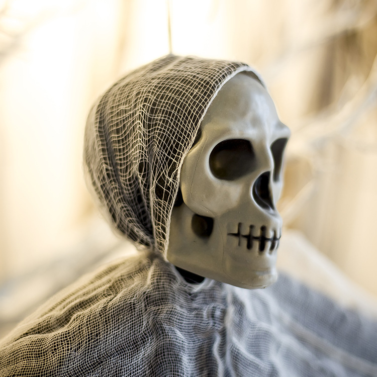 Halloween Gauze Skull like Halloween Hanging Bar Horror Atmosphere Layout Halloween Party Decoration halloween decor in Party DIY Decorations from Home Garden