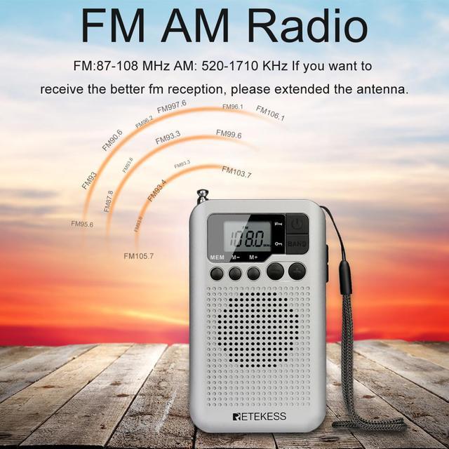 Портативный радиоприемник RETEKESS TR106 AM/FM