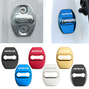 Image 2 - Car Styling Door Lock Covers For Toyota RAV4 Protective And Decoration Car Accessories Sticker