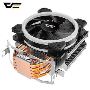 Darkflash cpu cooler radiador l5, dissipador de calor pwm rgb led ventilador 120mm 4pin pc cpu refrigeração lga 775/115x/1366/am4/am3