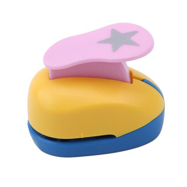 Bébé jouets Mini Scrapbook poinçons à la main Cutter carte artisanat impression bricolage Eva mousse papier poinçon trou perforateur forme Clip cadeau