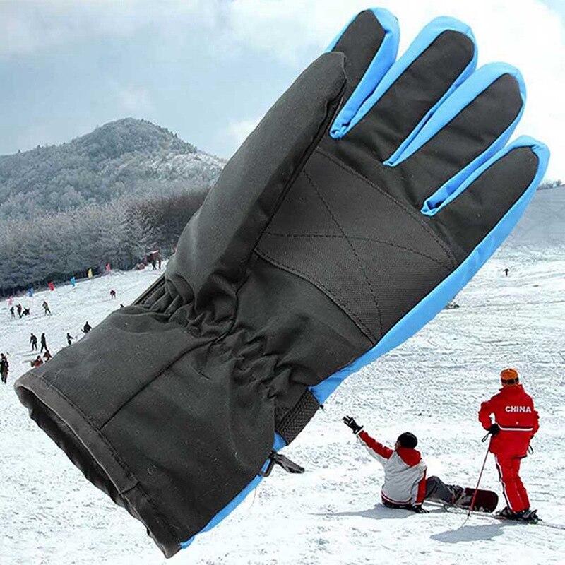Antiskid Wear Resistant Ski Gloves Mountain Skiing Snowmobile Glove Full Finger Waterproof Windproof Riding Gloves