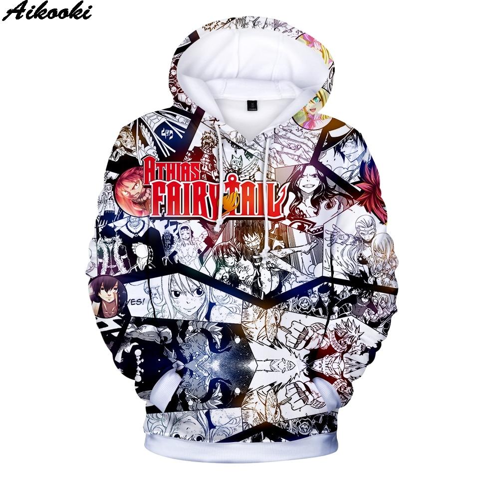 Men's Hoodies Sweatshirt Fairy-Tail Anime Fashion-Design Pullovers Kids Best-Seller Comfortable