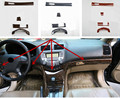 4 шт./лот ABS углеродное волокно зерно или деревянное зерно Центральная панель управления приборная панель декоративная крышка для 2003-2007 HONDA ...