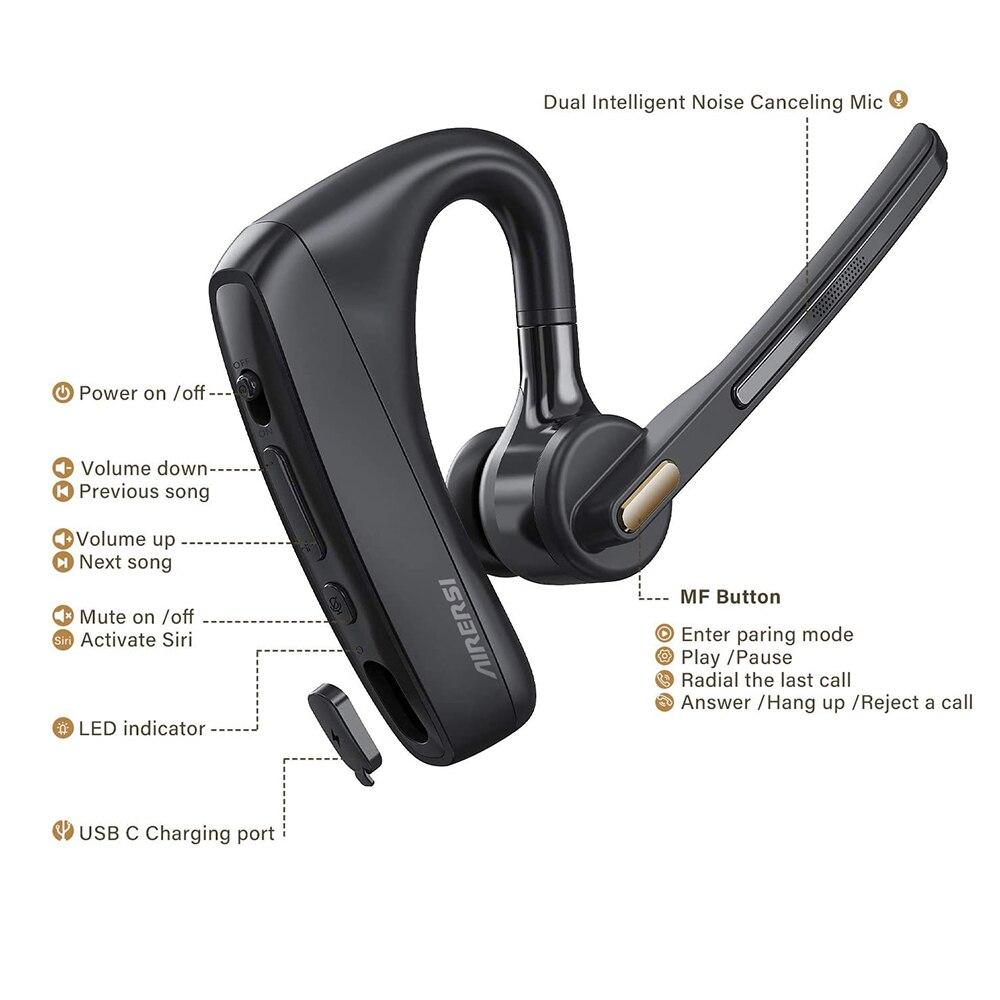 bluetooth v5.0 fone de ouvido dupla redução