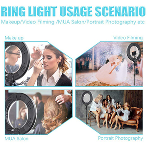 "Image 5 - ZOMEI 14 ""عكس الضوء مصباح LED للاستديو هات مصباح مصمم على شكل حلقة مع ترايبود التصوير الإضاءة مصباح مصمم على شكل حلقة مصباح للماكياج Selfie يوتيوب فيديو لايف"