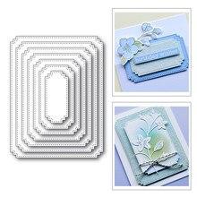 Novo nidificação costurado retângulo tag craft 2020 corte de metal dados para scrapbooking e cartão que faz a decoração de gravação molde sem selos