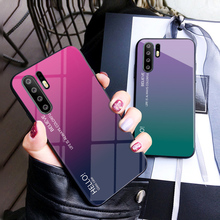 Gradient Tempered Glass Case for Huawei P30 P20 Pro P10 P9 Plus P8 Lite