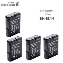 1500mAh EL 14 ENEL 14 EN-EL14A EN-EL14 EN EL14 EL14A EL14+ Battery pack For Nikon D5200 D3100 D3200 D5100 P7000 P7100 cheap brave heart Camera Standard Battery 7 2v